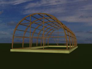 постройка теплиц с дерева