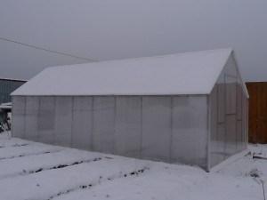 Наиболее распространенная конструкция садовой теплицы
