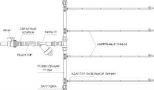 Схема расположения водоносных линий