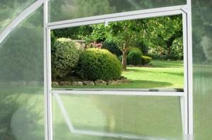 Вентиляция для стеклянной теплицы