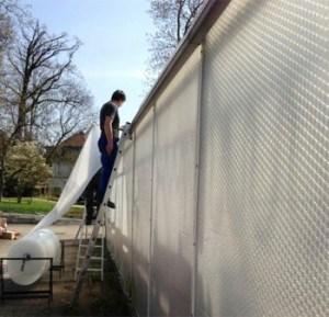 Воздушно пузырчатая плёнка для парников – монтаж