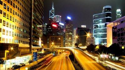 Фото ночного освещения города