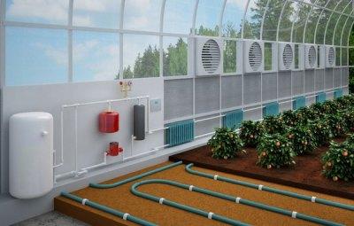 Теплица, оборудованная системами отопления, автоматического проветривания и полива