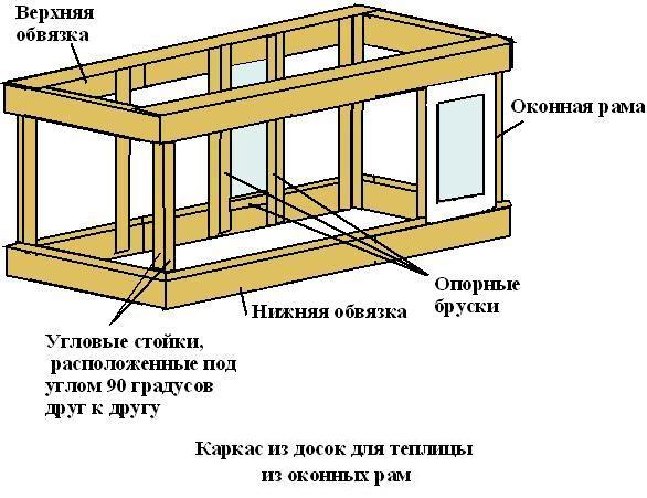 Инструкция по строительству теплицы из рам