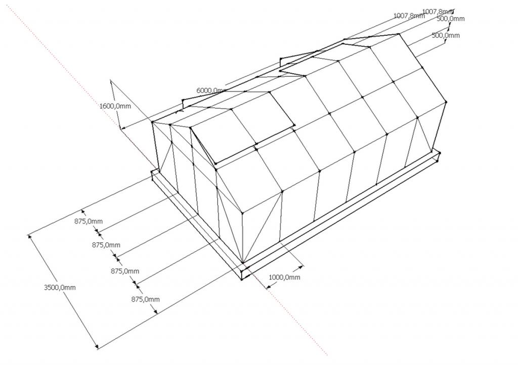 Пример проекта теплицы