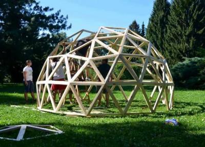 Как выполняется строительство по купольной технологии