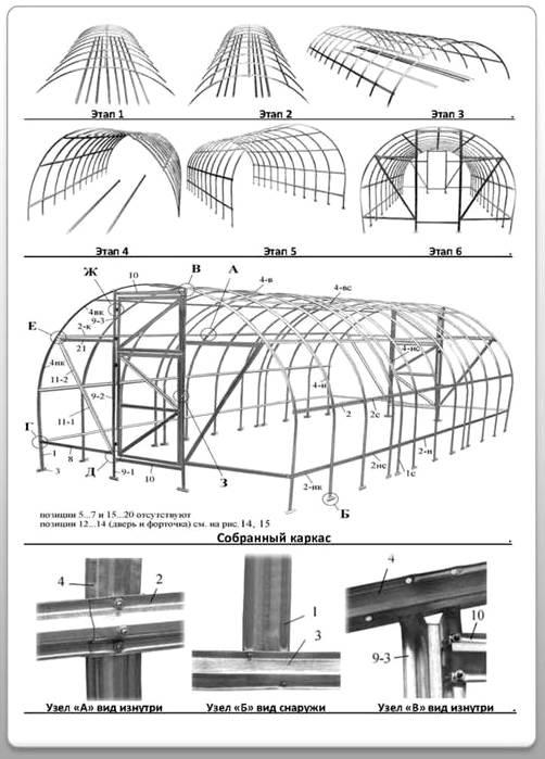 Инструкция по сборки теплицы