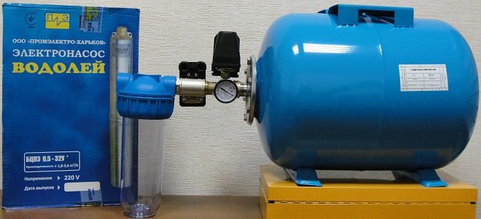 Фото конструкции с гидравлическим аккумулятором