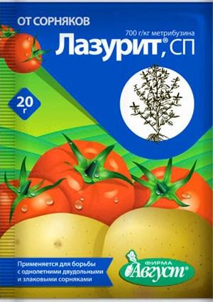 Ещё одно популярное решение для картофельных полей – «Лазурит».