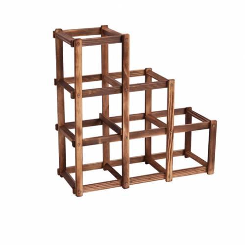 Простейшая конфигурация стеллажа из деревянных брусков
