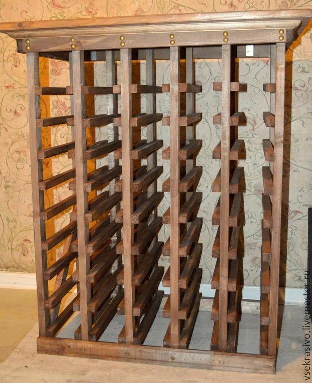 Самая простая конструкция стеллажа для винных бутылок