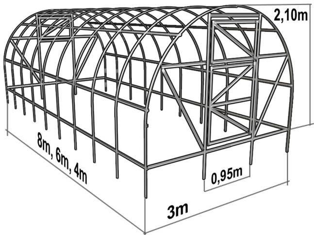 Фото инструкция по строительства теплицы из поликарбоната