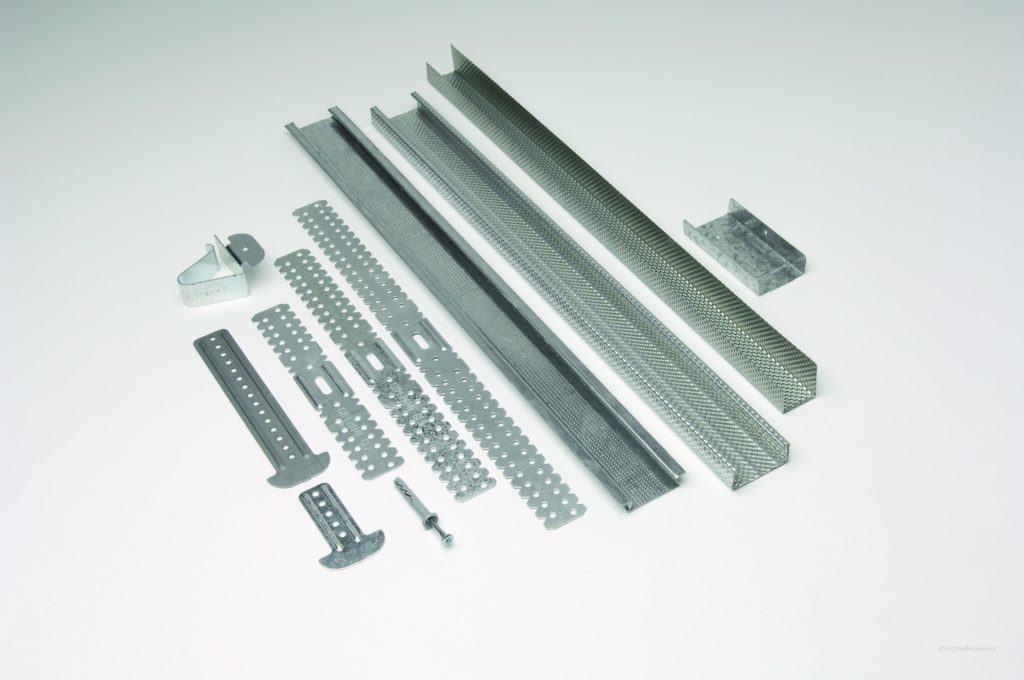 Профили для гипсокартона и различные комплектующие к ним, для создания конструкций различной степени сложности