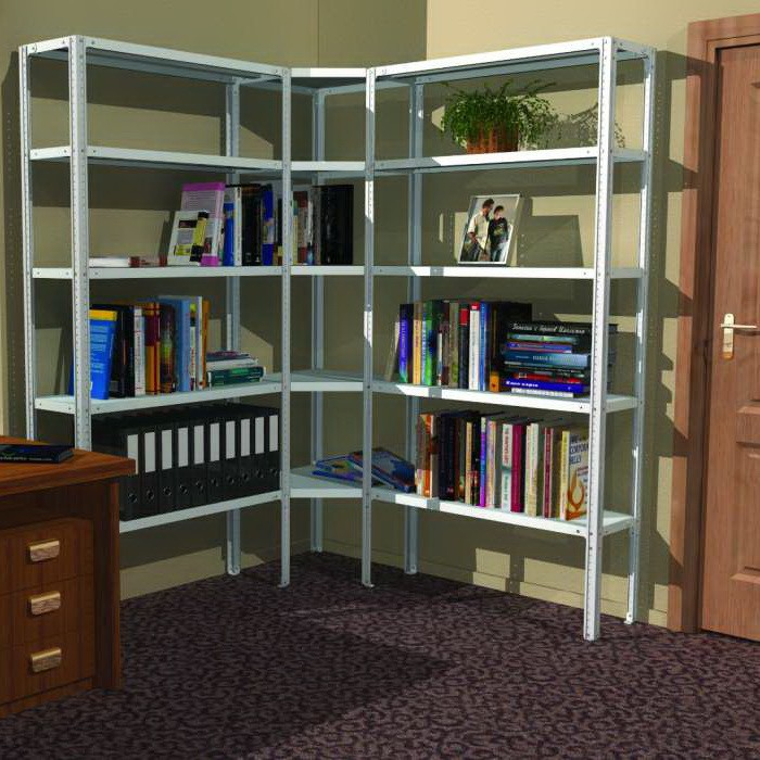 Удобный угловой стеллаж, который можно использовать не только в офисе