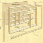 Чертеж деревянной, крепкой конструкции