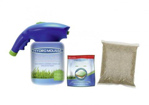Распылитель и смесь для жидкого газона