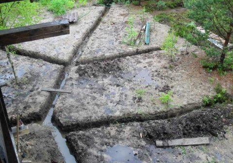 Дренажные канавки не позволят воде застаиваться у корней