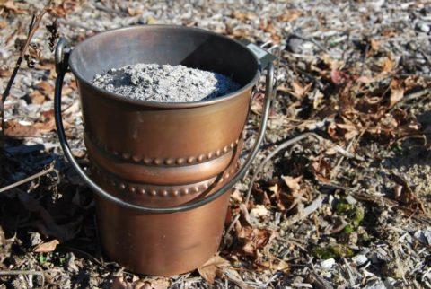 Зола – отличный источник калия и кальция