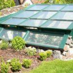 Теплица-термос с односкатной крышей